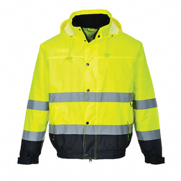 Portwest hi-vis two tone bomber jacket S266
